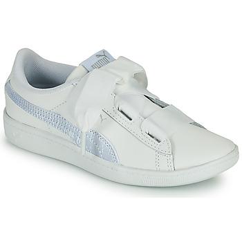 Schuhe Kinder Sneaker Low Puma VIKKY RIB PS BL Weiss