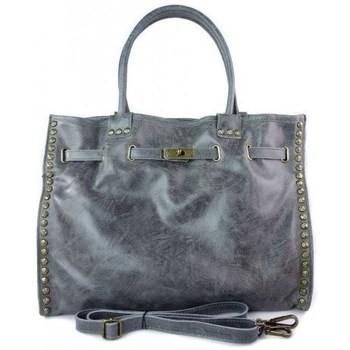 Taschen Damen Handtasche Vera Pelle SB577G Grau
