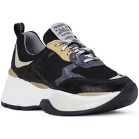 Schuhe Herren Sneaker Low At Go GO MICROCRACK NERO Bianco