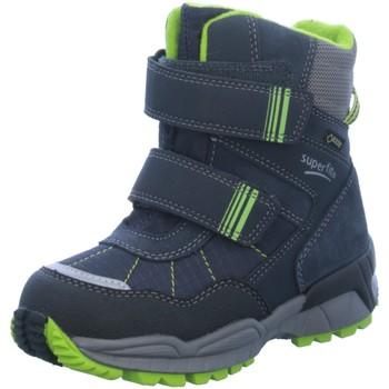 Schuhe Jungen Schneestiefel Superfit Klettstiefel 2-Klettstiefel blau