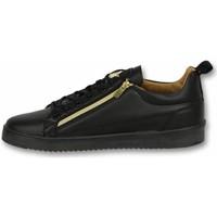 Schuhe Herren Sneaker Cash Money Sneaker Bee Black Gold CMS Schwarz
