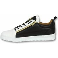 Schuhe Herren Sneaker Low Cash Money Sneaker Bee Black White Gold CMS Schwarz, Weiß