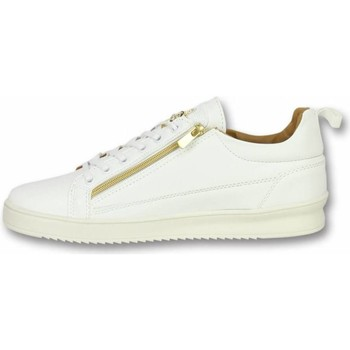 Schuhe Herren Sneaker Low Cash Money Sneaker Bee White Gold Weiß