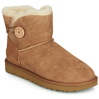Schuhe Damen Boots UGG MINI BAILEY BUTTON II Camel