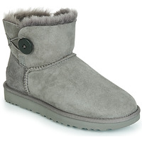 Schuhe Damen Boots UGG MINI BAILEY BUTTON II Grau