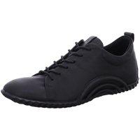Schuhe Damen Sneaker Low Ecco Schnuerschuhe Womens Da.Schnürer 206113/01001 schwarz