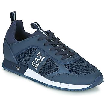 Schuhe Herren Sneaker Low Emporio Armani EA7 BLACK&WHITE LACES U Blau