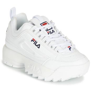 Schuhe Kinder Sneaker Low Fila DISRUPTOR KIDS Weiss