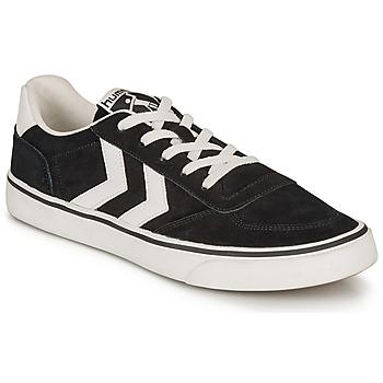 Schuhe Sneaker Low Hummel STADIL 3.0 SUEDE Schwarz / Weiss