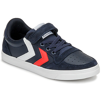 Schuhe Kinder Sneaker Low Hummel SLIMMER STADIL LEATHER LOW JR Blau