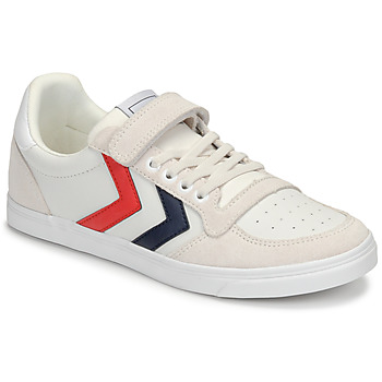 Schuhe Kinder Sneaker Low Hummel SLIMMER STADIL LEATHER LOW JR Weiss