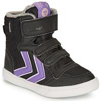 Schuhe Mädchen Sneaker High Hummel STADIL POLY BOOT MID JR Schwarz