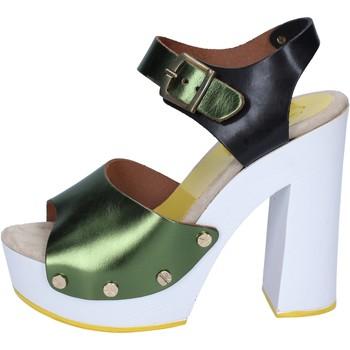 Schuhe Damen Pumps Suky Brand sandalen grün schwarz leder BS18 grün