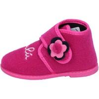 Schuhe Mädchen Hausschuhe Lulu mädchen LULU'' pantoffeln pink textil BS28 pink