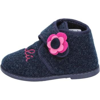 Schuhe Mädchen Hausschuhe Lulu mädchen LULU'' pantoffeln blau textil BS29 blau