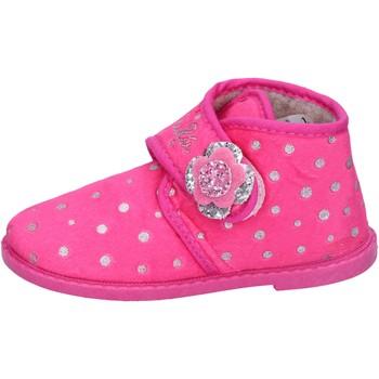 Schuhe Mädchen Hausschuhe Lulu mädchen LULU'' pantoffeln pink textil BS44 pink