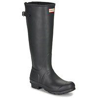 Schuhe Damen Gummistiefel Hunter ORIGINAL BACK ADJUSTABLE Schwarz