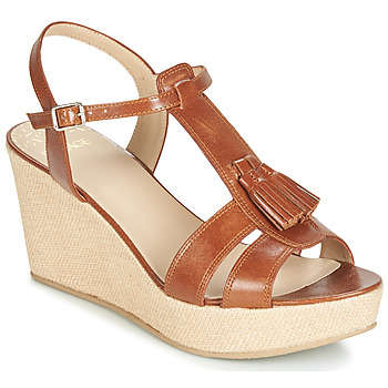 Schuhe Damen Sandalen / Sandaletten Bocage HERLE Cognac