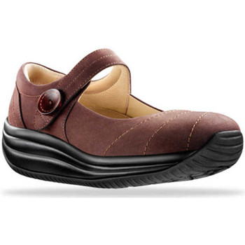 Schuhe Damen Ballerinas Joya Mary Jane Brown 534