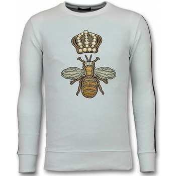 Kleidung Herren Sweatshirts Tony Backer Flock Print Royal Bee Weiß