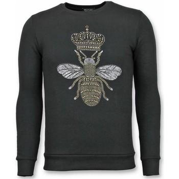 Kleidung Herren Sweatshirts Tony Backer Rhinestone Master Bee Mit Druck Schwarz