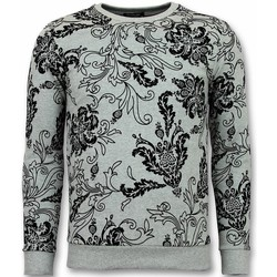 Kleidung Herren Sweatshirts Tony Backer Flockprint Billige Grau
