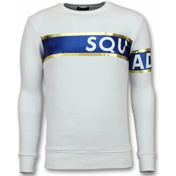 Kleidung Herren Sweatshirts Tony Backer Stripe Sqouad Süße Weiß