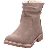 Schuhe Damen Stiefel Stiefelette Schlupf- RV- Sportb TAUPE 434