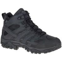 Schuhe Herren Wanderschuhe Merrell Moab 2 Mid Tactical Waterproof Schwarz