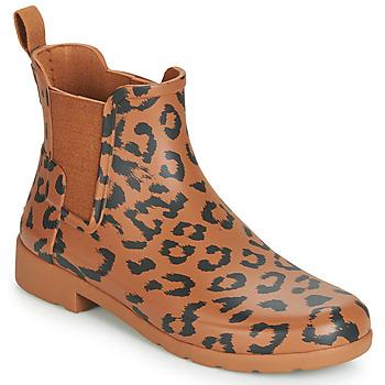 Schuhe Damen Gummistiefel Hunter ORG REFINED CHELSEA HYBRD PRNT Leopard