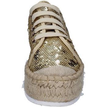 Francescomilano sneakers platin textil paillettes BS77 PLATIN - Kostenloser Versand |  - Schuhe Sneaker Low Damen 3499