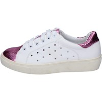 Schuhe Damen Sneaker Low Francescomilano sneakers weiß pink synthetisches leder BS78 weiß