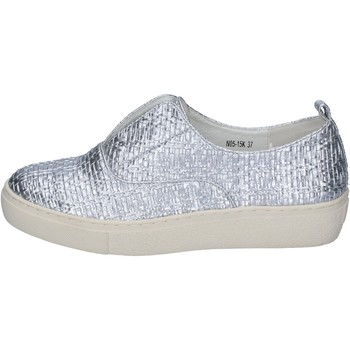 Schuhe Damen Slip on Francescomilano mokassins silber synthetisches leder BS79 silber