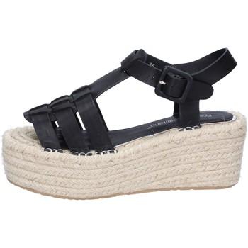 Schuhe Damen Sandalen / Sandaletten Francescomilano sandalen schwarz synthetisches leder BS80 schwarz