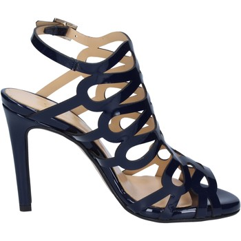 Schuhe Damen Sandalen / Sandaletten Olga Rubini sandalen blau glänzendem leder BS91 blau