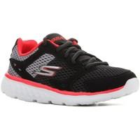Schuhe Kinder Laufschuhe Skechers Kinderschuhe  Go Run 400 97681L-BGRD schwarz, rot, grau