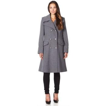 Kleidung Damen Mäntel De La Creme Wintermantel aus Kaschmirwolle Grey