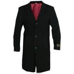 Kleidung Herren Mäntel De La Creme Woll- und Kaschmir-Wintermantel für Herren Black