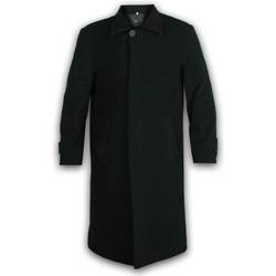 Kleidung Herren Mäntel De La Creme Wintermantel aus Wolle und Kaschmir Black