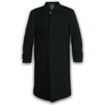 Kleidung Herren Mäntel De La Creme Langer Wintermantel aus Wolle und Kaschmir Black