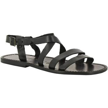 Schuhe Herren Sandalen / Sandaletten Gianluca - L'artigiano Del Cuoio 531 U NERO CUOIO nero
