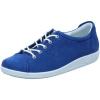 Schuhe Damen Sneaker Low Ecco Schnuerschuhe Komfort Schnürhalbschuh Soft 2.0 206503 02048 blau