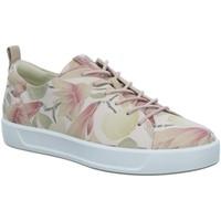 Schuhe Damen Sneaker Low Ecco Schnuerschuhe Womens Da.Schnürer 440793/01118 rosa
