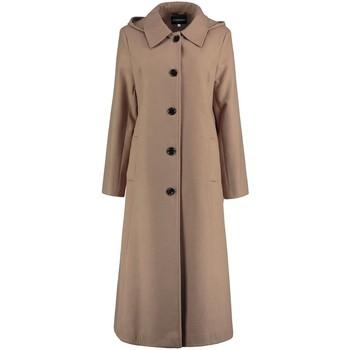 Kleidung Damen Trenchcoats De La Creme Langer, abnehmbarer Damen Wintermantel mit Kapuze BEIGE