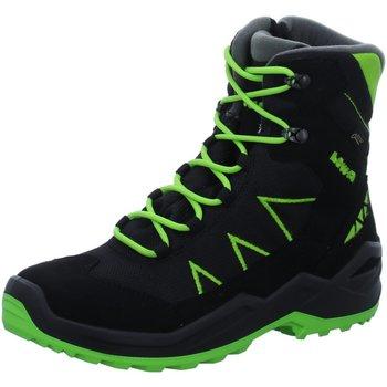 Schuhe Jungen Wanderschuhe Lowa Winterstiefel Jonas GTX Mid 640554-9903 schwarz