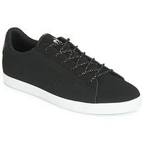 Schuhe Damen Sneaker Low Le Coq Sportif AGATE NUBUCK Schwarz / Silbern