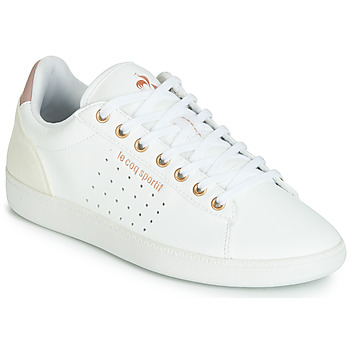 Schuhe Damen Sneaker Low Le Coq Sportif COURTSTAR W BOUTIQUE Weiss / Rose