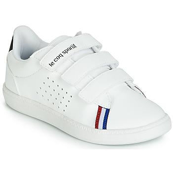 Schuhe Kinder Sneaker Low Le Coq Sportif COURTSTAR PS SPORT BBR Weiss