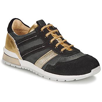 Schuhe Mädchen Sneaker Low Catimini CAMELINE Schwarz / Gold