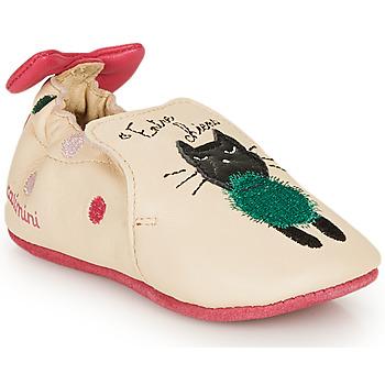 Schuhe Mädchen Hausschuhe Catimini CALICETTE Beige / Rose